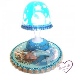 lampe de chevet sirène, cadeau de naissance
